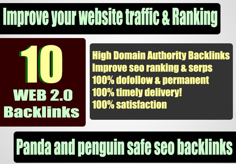 Get Unique 10 Casino/Gambling/Poker/Judi Sites Da 50+ Pa 40+ PR 5 Web 2.0 Pbn