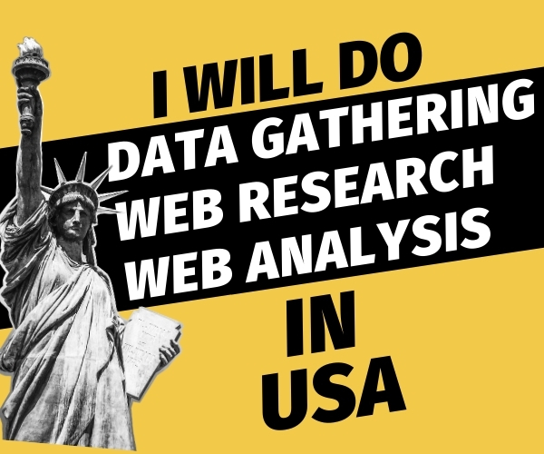 I will Do Data Gathering Web Research Web Analysis