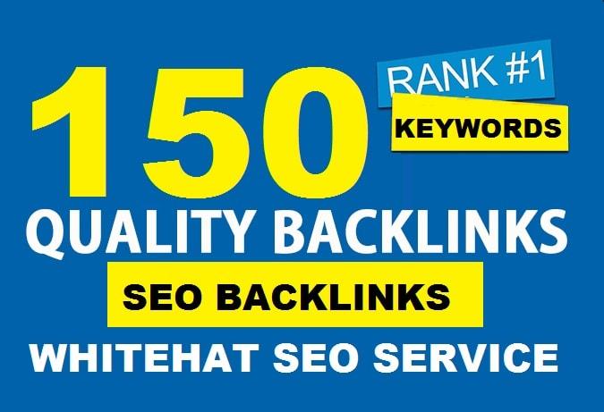 150 SEO backlinks manual link building service for high google ranking