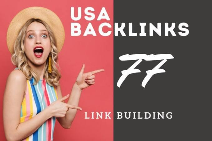 white hat SEO 77 USA backlinks for link building