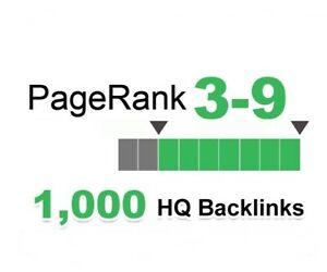 Provide 1000+ PR 3-9 backlinks