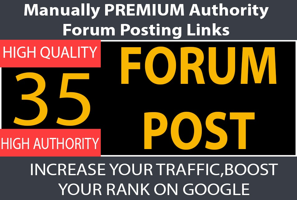 Get Traffic Booster 30 Forum Post Links to Boost Google Ranking