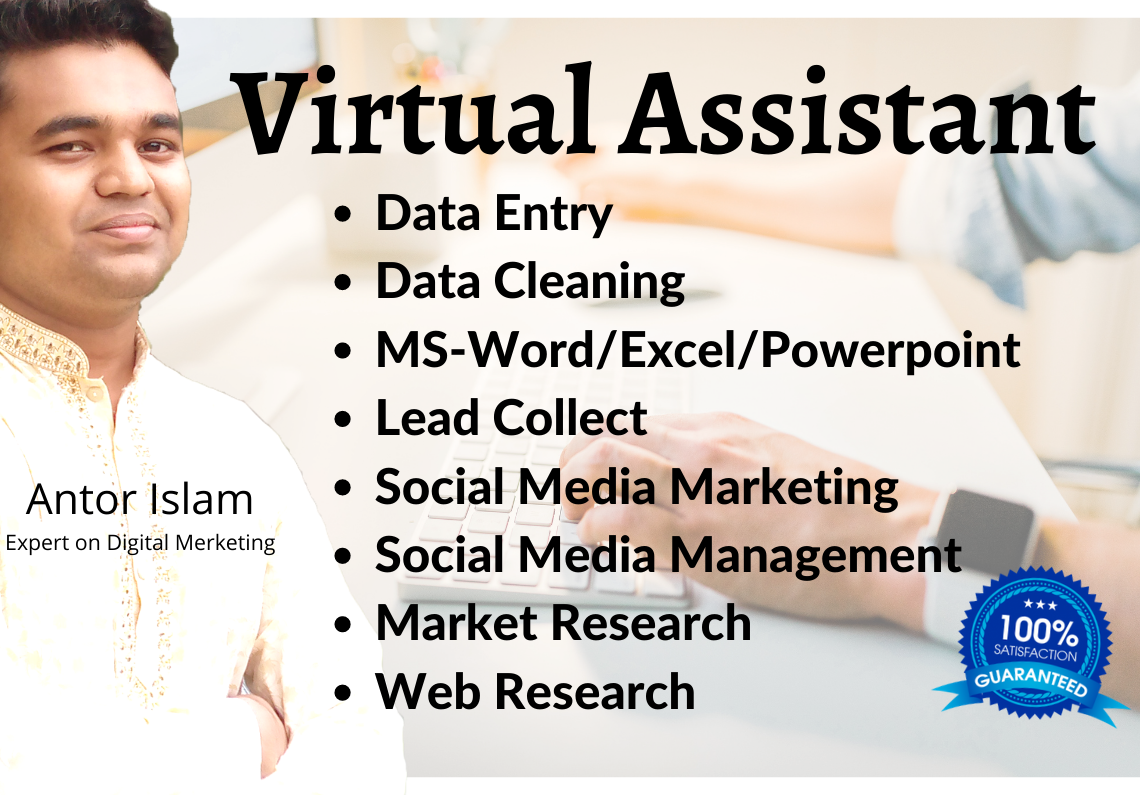 I will be your business or personal virtual assistance for any tusk