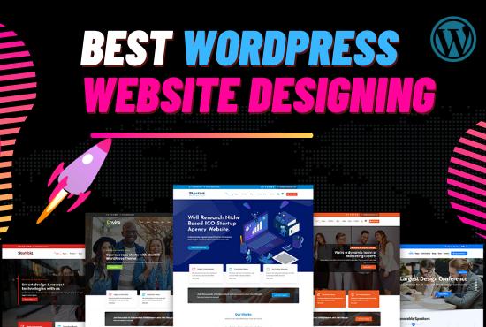 Design & develop responsive,  fast,  SEO friendly WordPress website