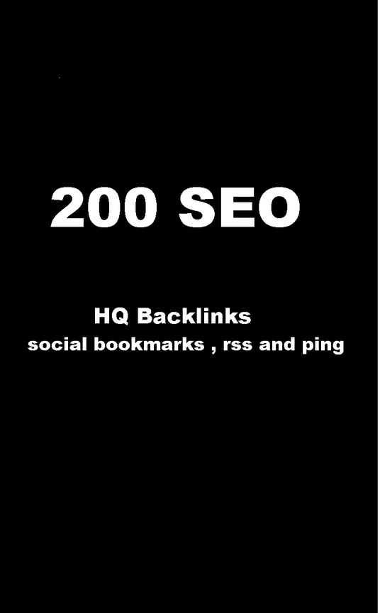 Add your site to 200+ SEO social bookmarks HQ backlinks,  rss and ping