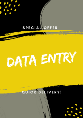 I will do data entry,  data collection,  web scraping and data cleaning