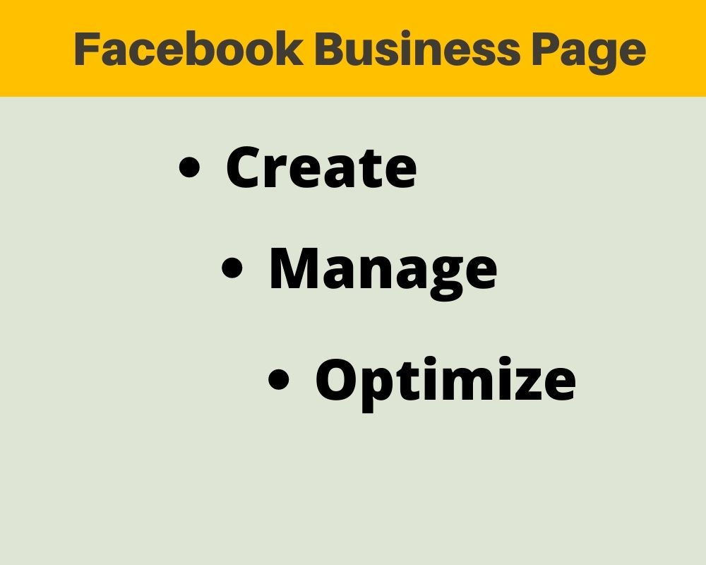 I will create & Manage your Business Page