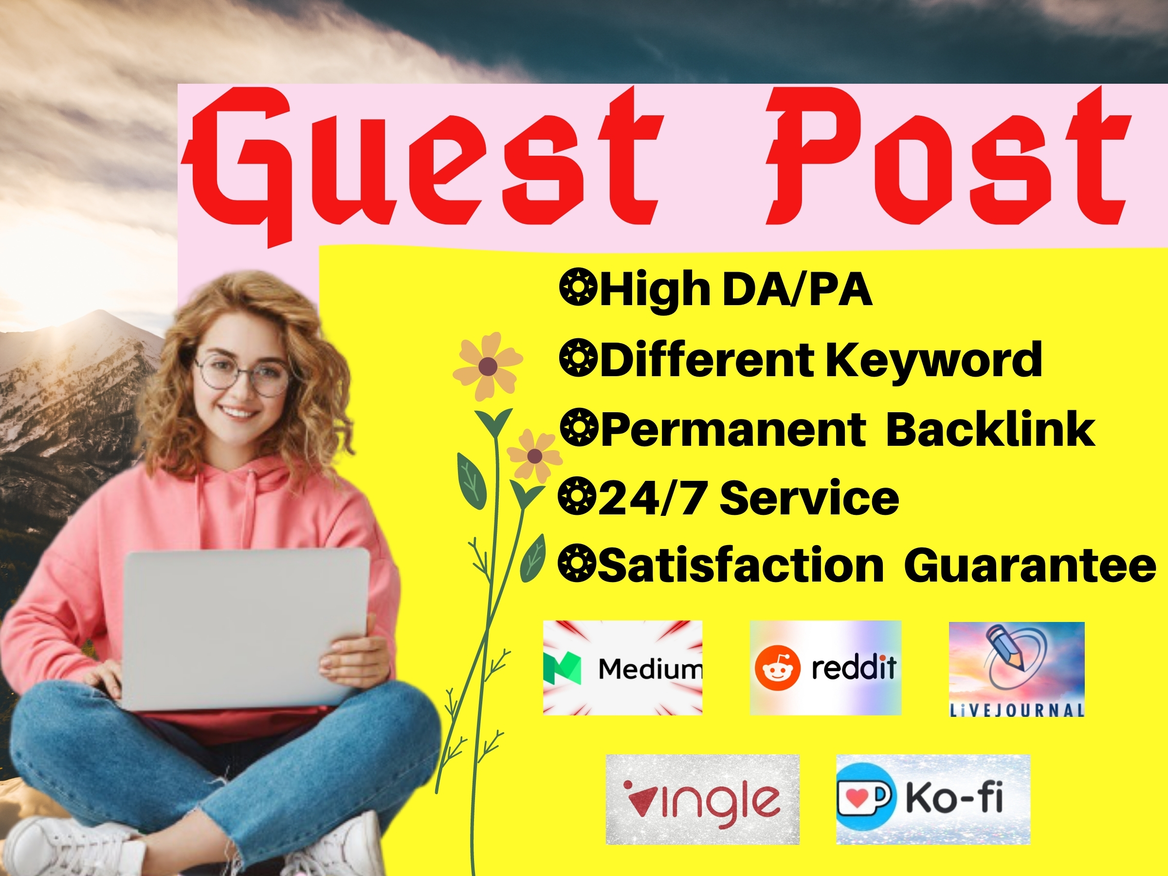 I Will Do Guest Post on High Authority Site for Rank your Website on Google