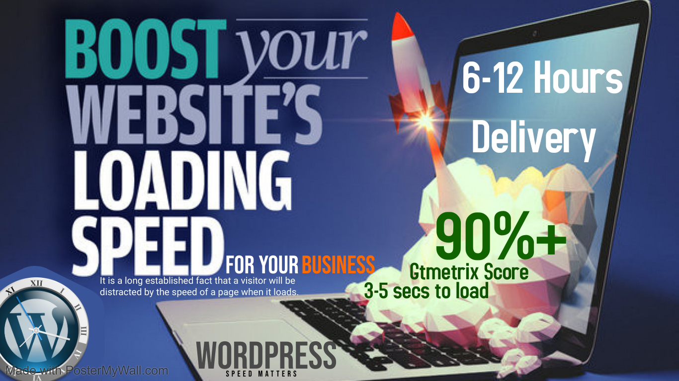 I'll Speed Up Wordpress Website Loading Time WITHIN 12 HOURS