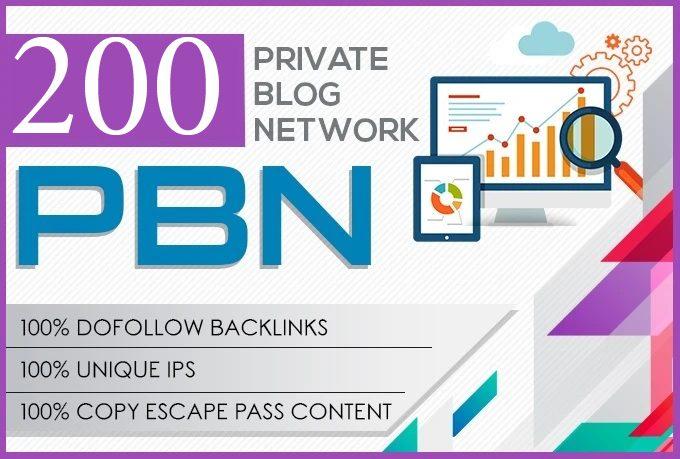I will do 200 pbn DA 20+ dofolow parmanent homepage post