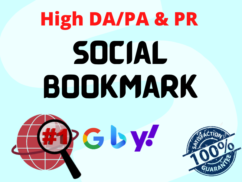 I will Provide 20 High DA PA & PR Social Bookmarking Backlink Services