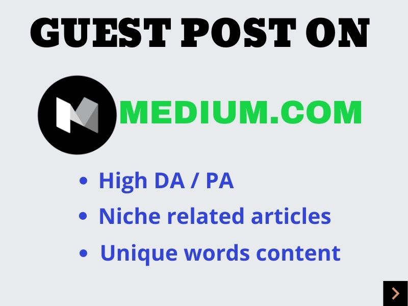 I will publish a guest post on Medium with a permanent backlink.