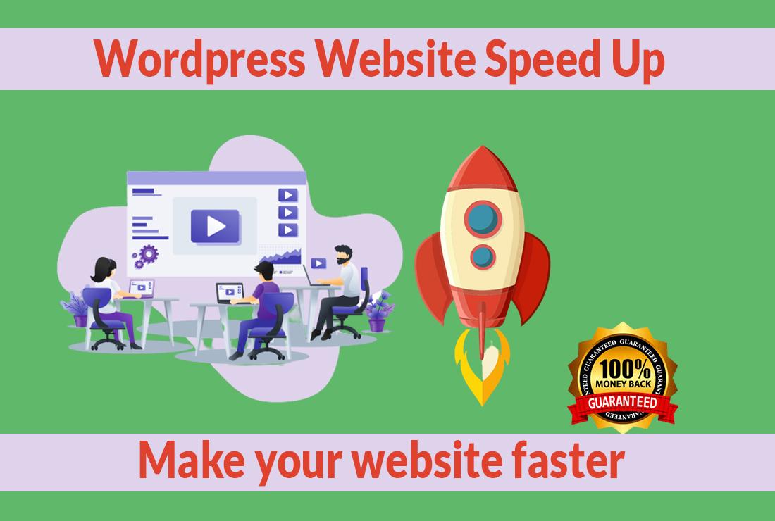 I will increase wordpress website speed optimization, google pagespeed, gtmetrix