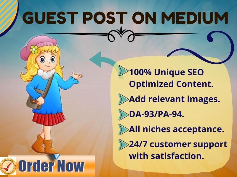 I Will Write & Publish High DA SEO Optimized Guest Post Backlinks On Medium