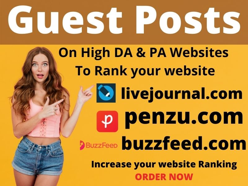 Write & Publish 3 niche related guest post 80+ blogs with permanent backlinks