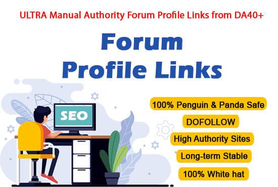 Provide Dofollow 40 Forum Profile Links to Skyrocket Website DA40-100