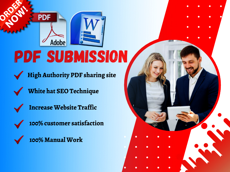 I will Submit PDF submission To 40 High Authority Document Sharing Site