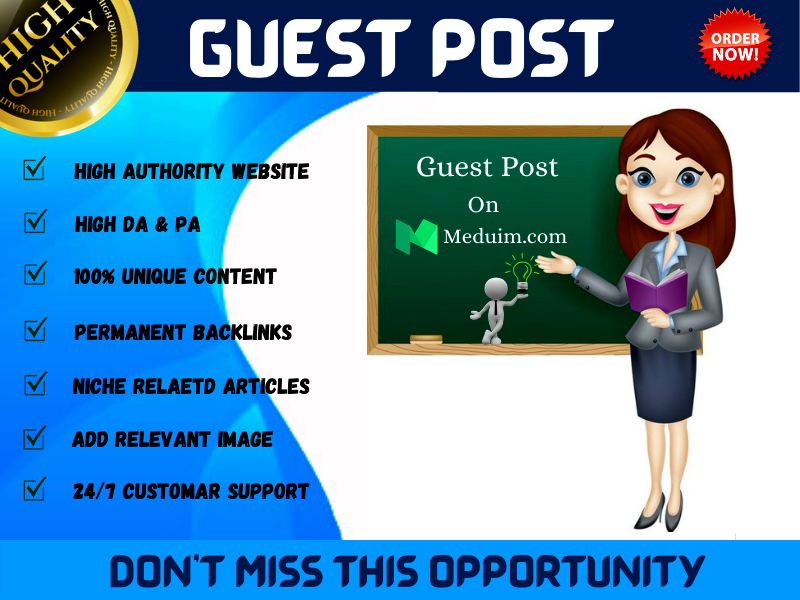 I Will Write & Publish A Guest Post On Medium With High Authority DA & PA And Permanent Backlinks