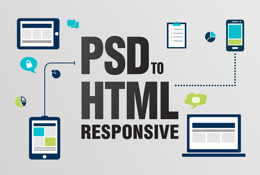 I do convert PSD to HTML responsive bootstrap 4