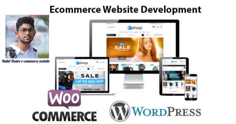 l create ecommerce website with php,  wordPress website with woo-commerce and shopify