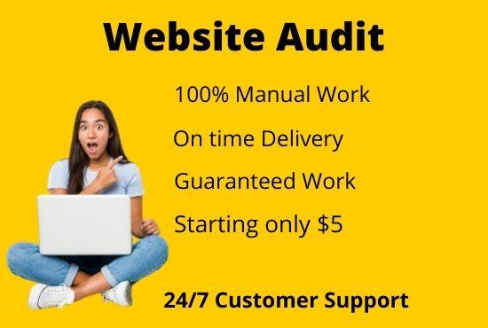 I provide expert SEO Audit for any website