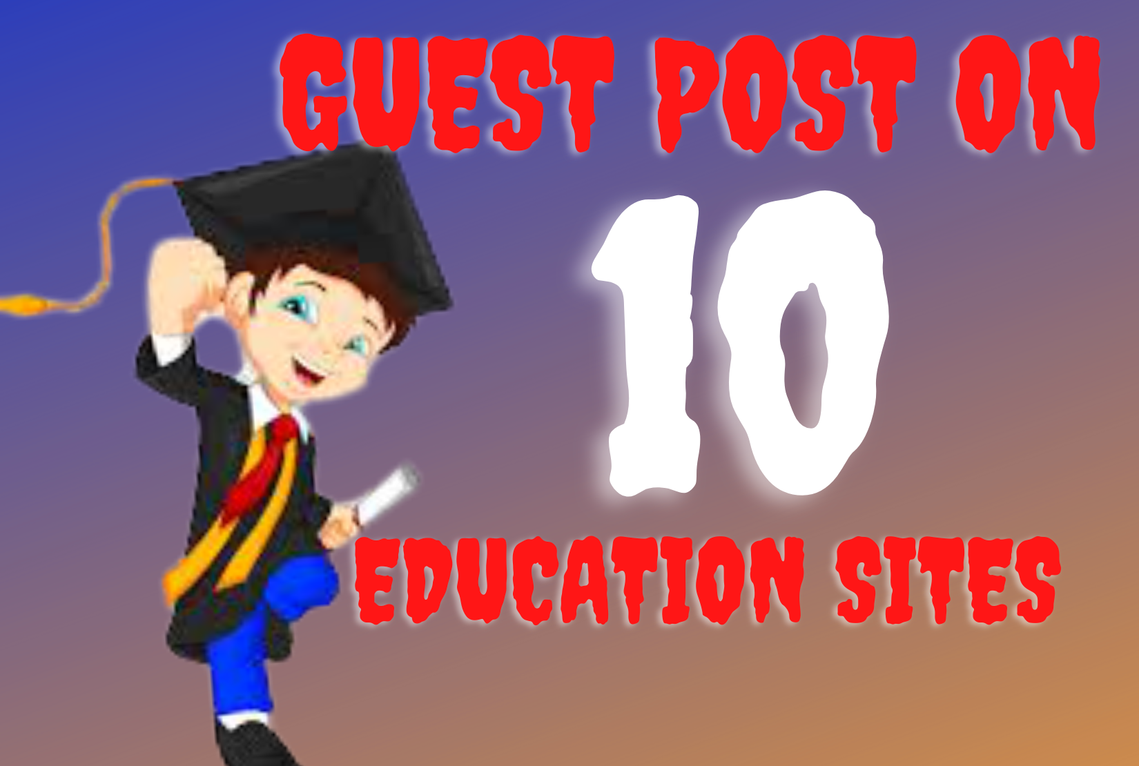 I will offer publish edu guest posts on high da sites