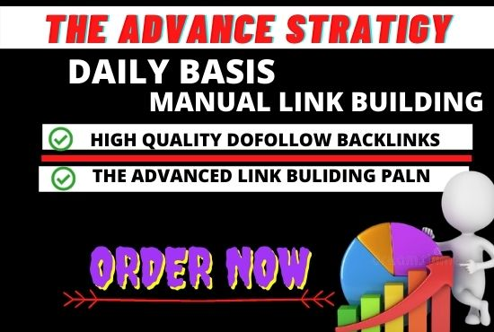 I will rank your website by daily basis high quality backlinks, links bulding service