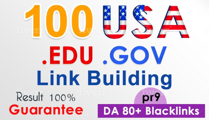 100 USA Edu & Gov high DA backlink service