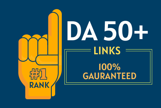 I will make 50 backlinks on da 50 plus sites to rank on 1 page