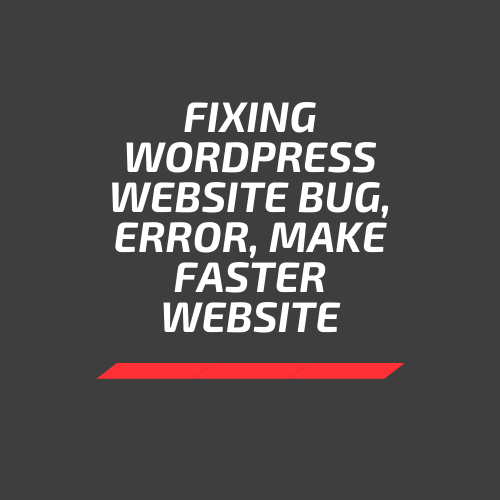 I will fix WORDPRESS website bug, error and make website faster