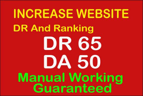 i'll increase Ahref domain rating 50 plus Moz DA 50 plus Guaranteed