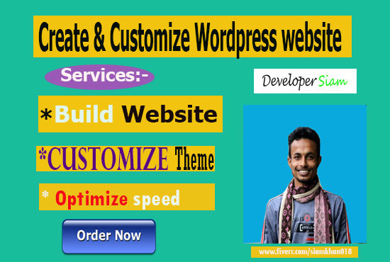 I will create and customize your wordpress website