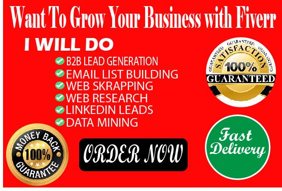 I will do b2b lead generation,  Web research targeted LinkedIn lead generation