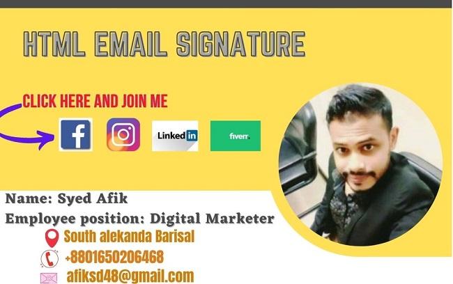 I Will Professionally Create Html Email Signature