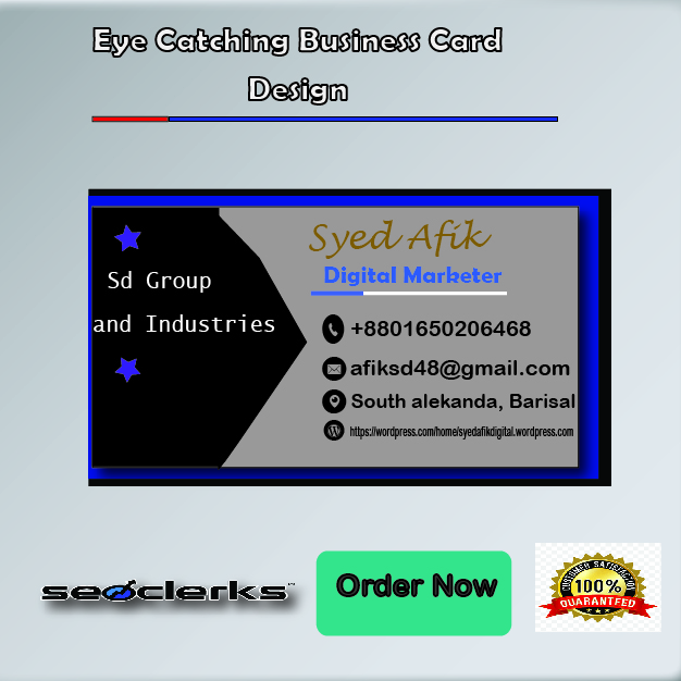 I Will Design Impressive Eye Catching Business Card