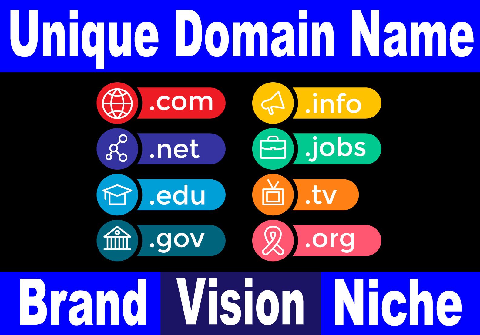 Unique Brand-able Optimized Domain Name