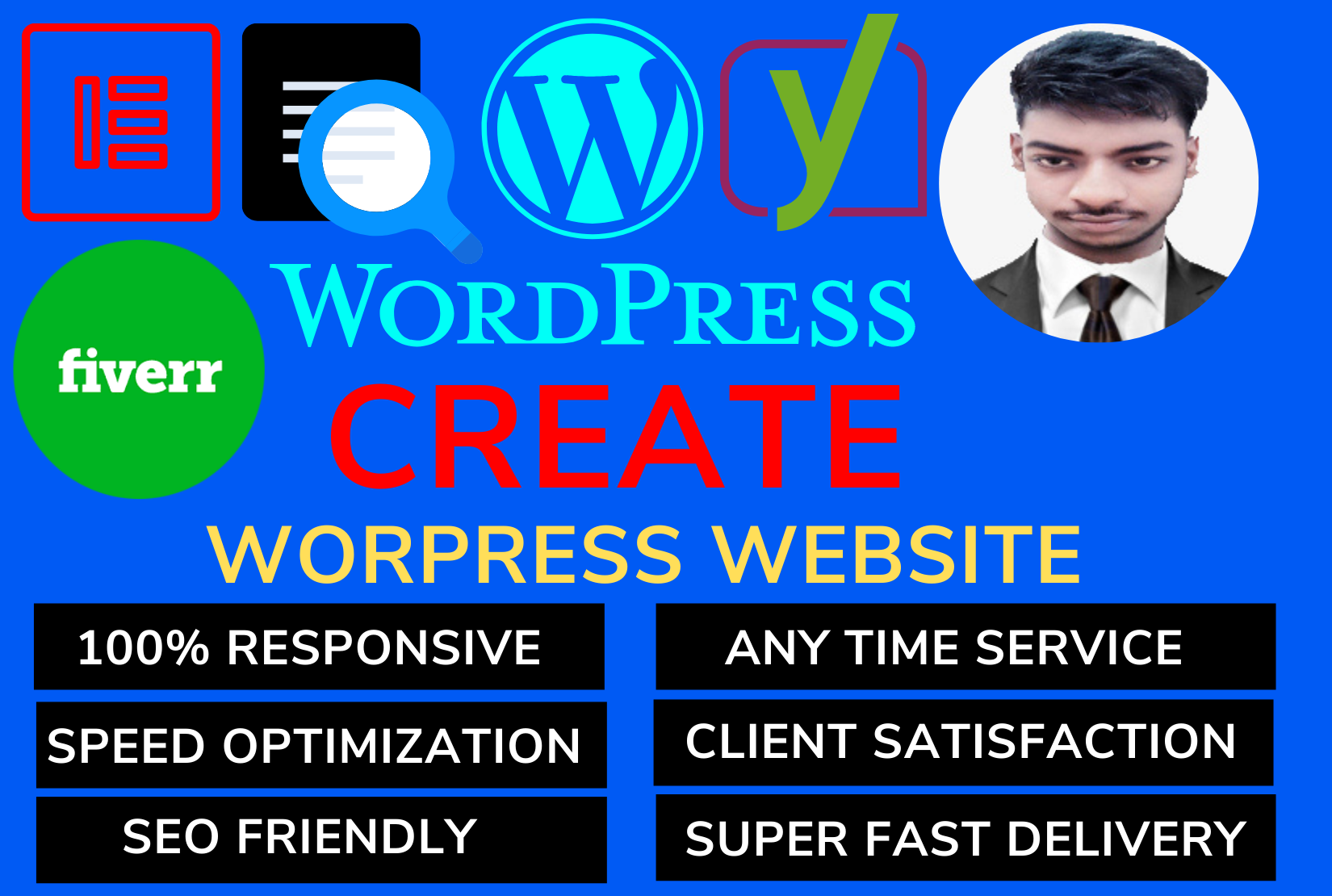 Build responsive wordpress website with customization