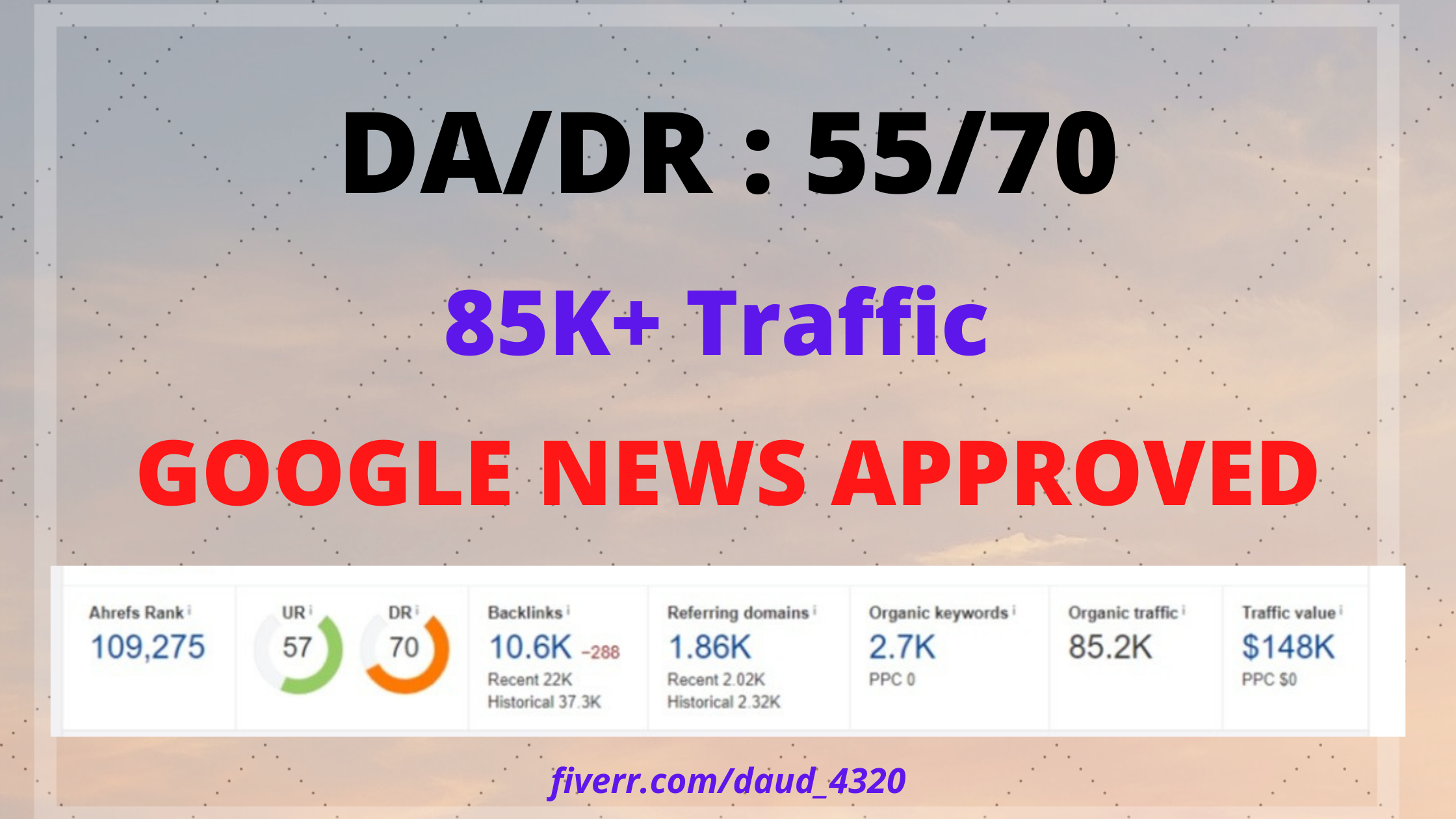 I will google news approved guest post on my da55 website