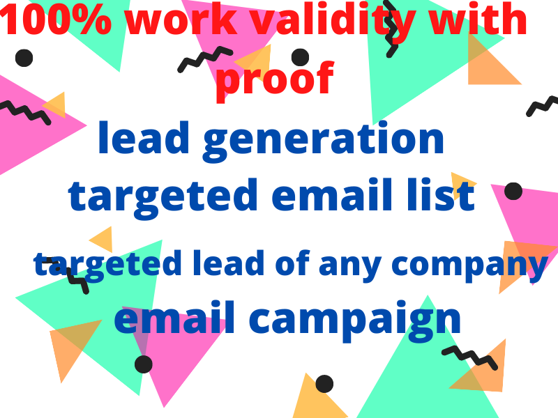 i will provide targeted lead with 100 validity
