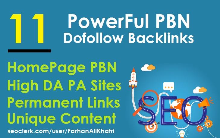 I Will SEO Service Do 11 PowerFul PBN Dofollow Backlinks