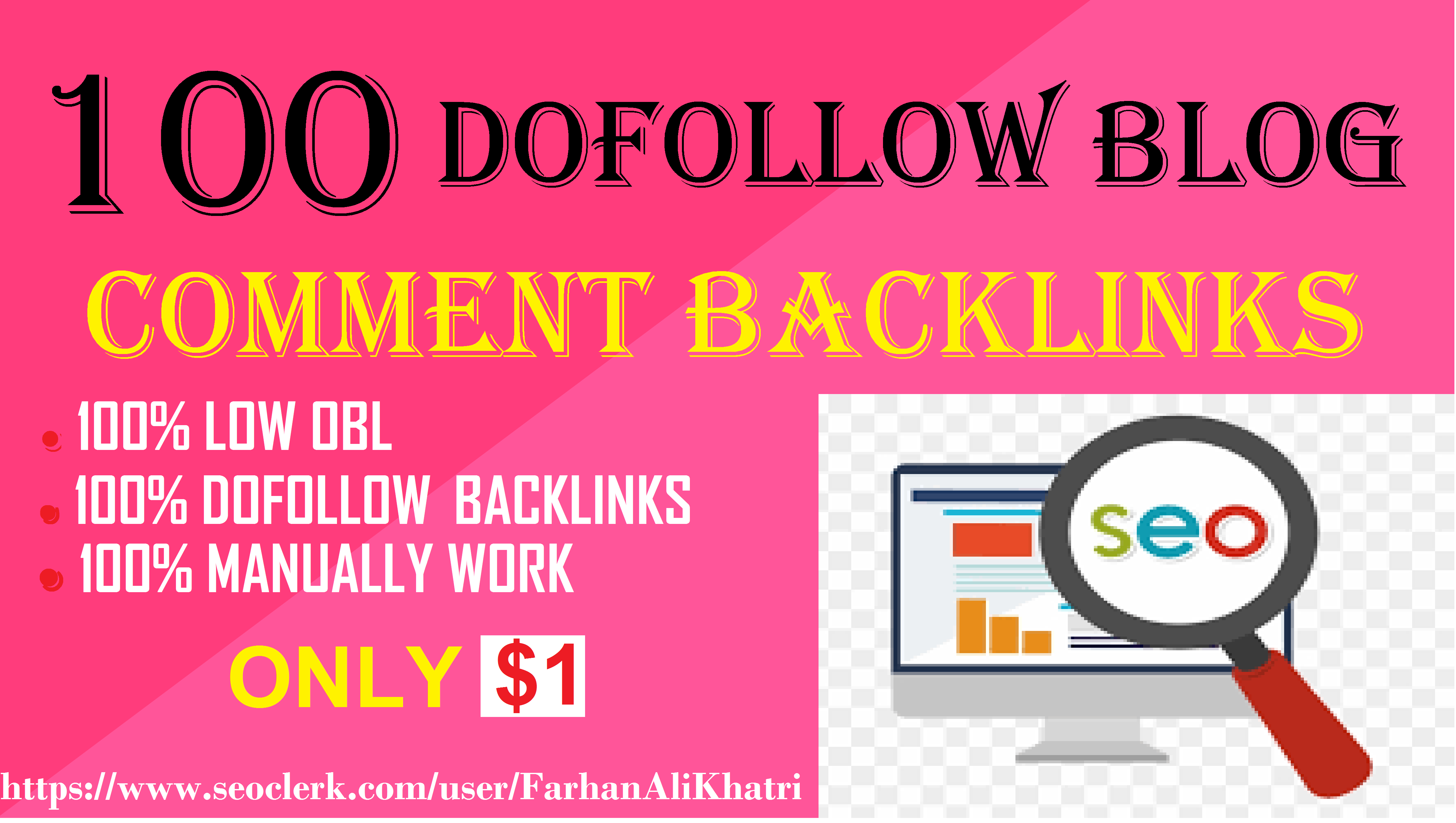 I will create 100 high quality dofollow backlinks to rank high
