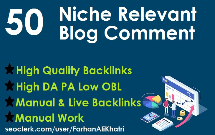 I will create 50 niche relevant blog comments nofollow backlinks