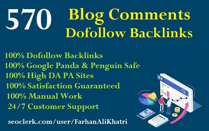 I Will SEO Service Manual 570 Blog Comments Dofollow Backlinks