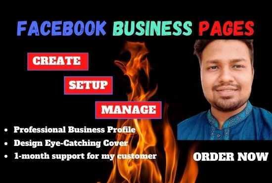 I Will Create,  Setup and Manage Your Facebook Business Page