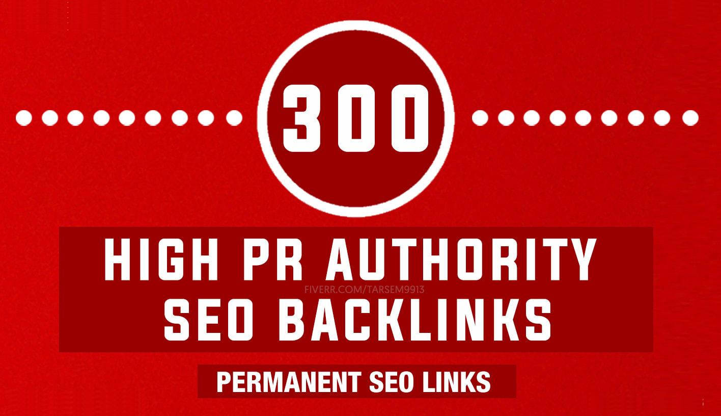 I will do 300 high pr authority SEO backlinks,  link building
