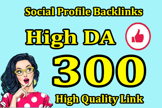 I will do 301 social media profiles for high da pr SEO backlinks