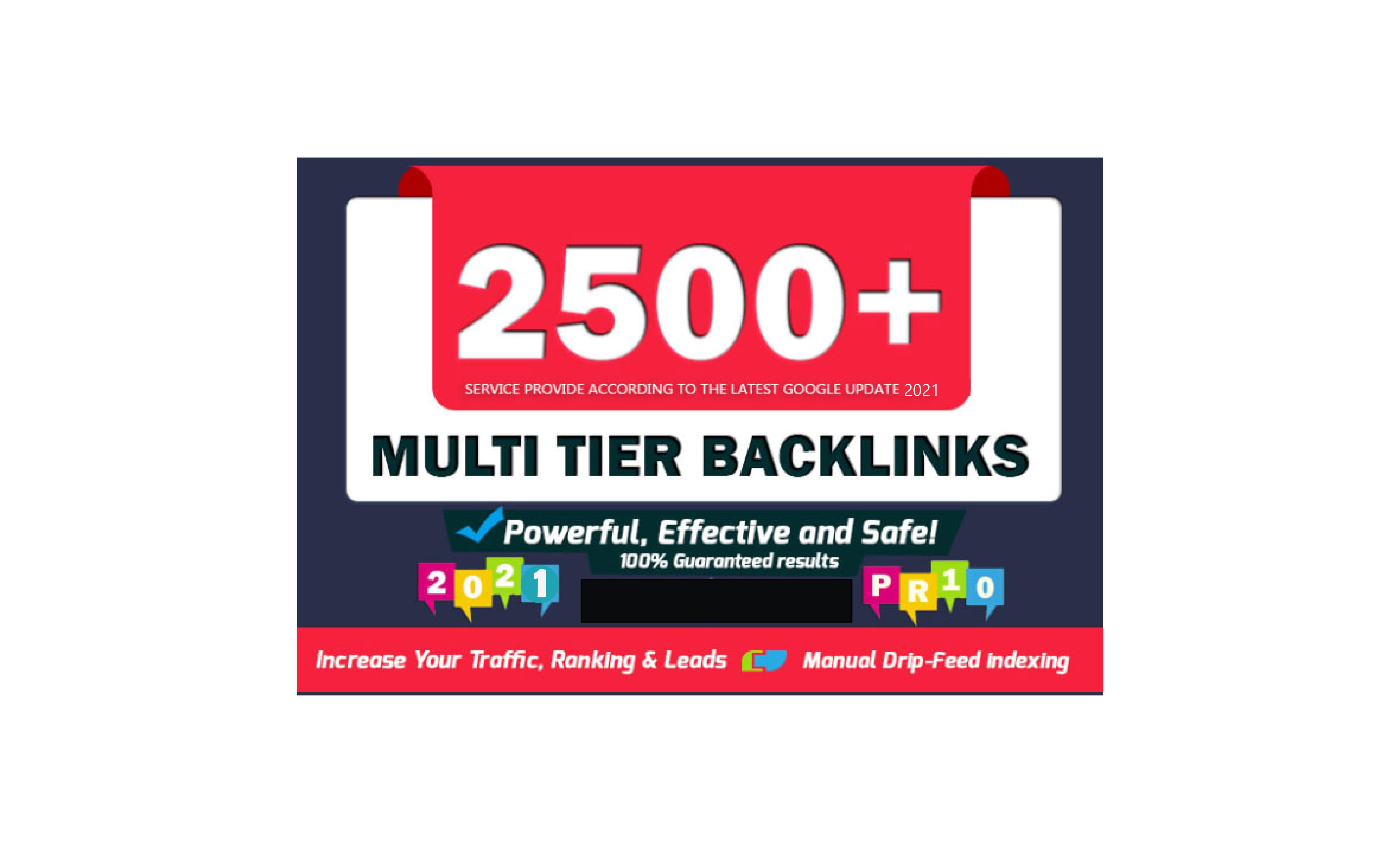 I will do 2500 SEO dofollow backlinks for Rank 1