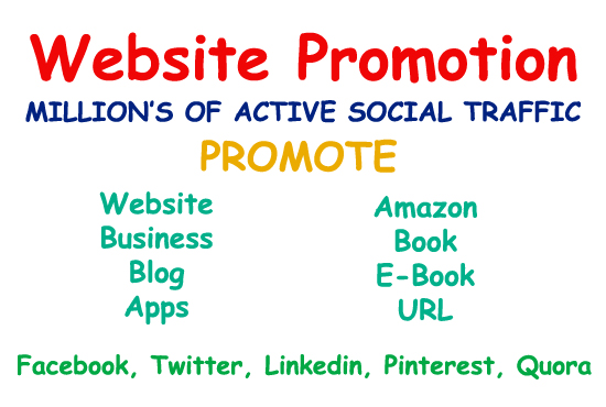 I do website promotion or any link on social media platform's