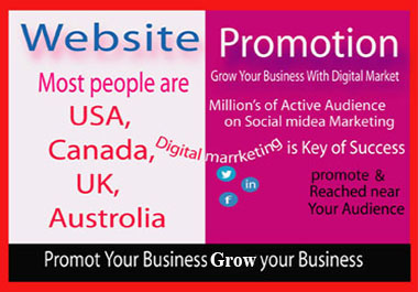 promote your website/business on active social media