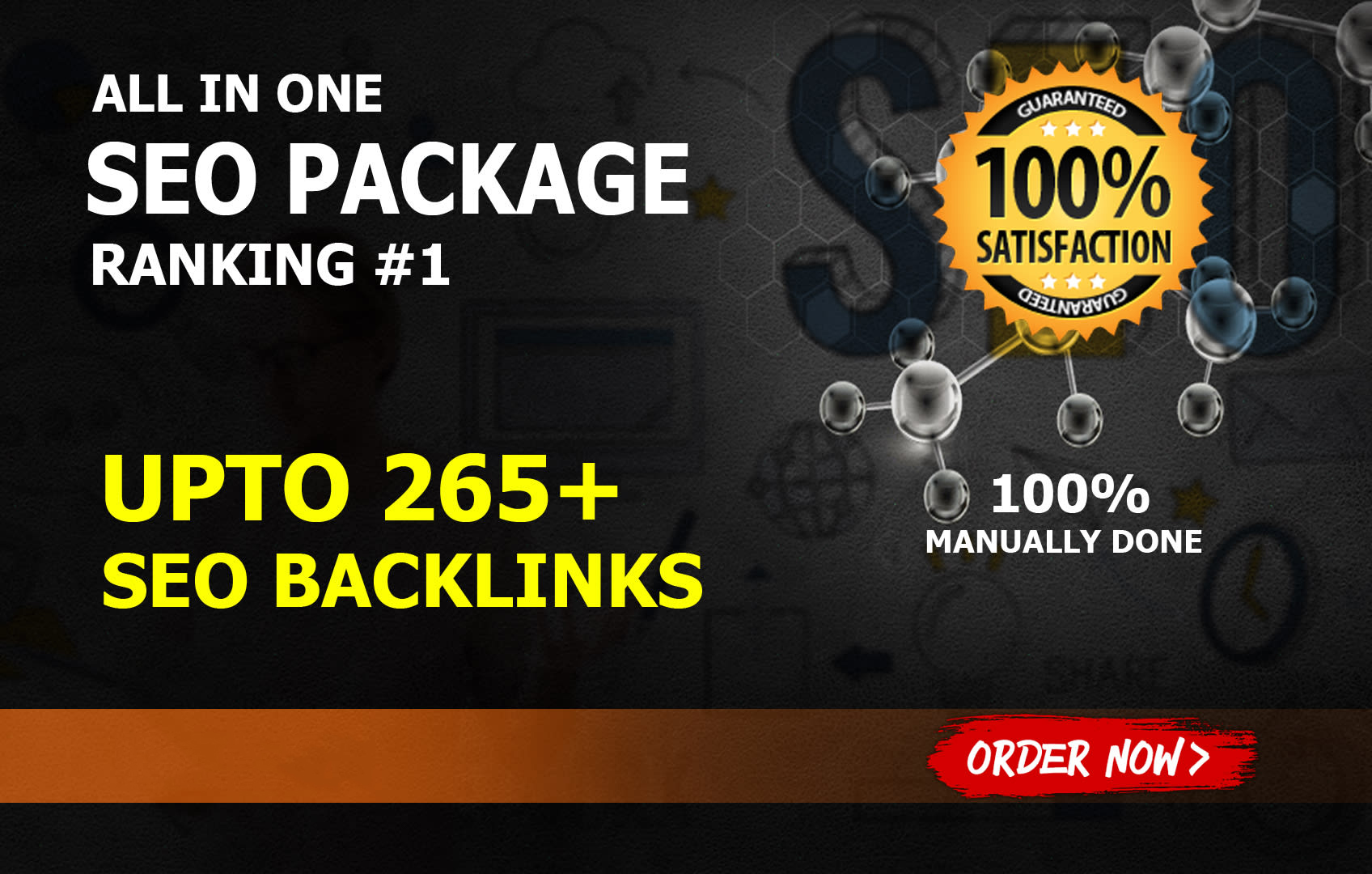 boost your google ranking with 265 SEO backlinks package